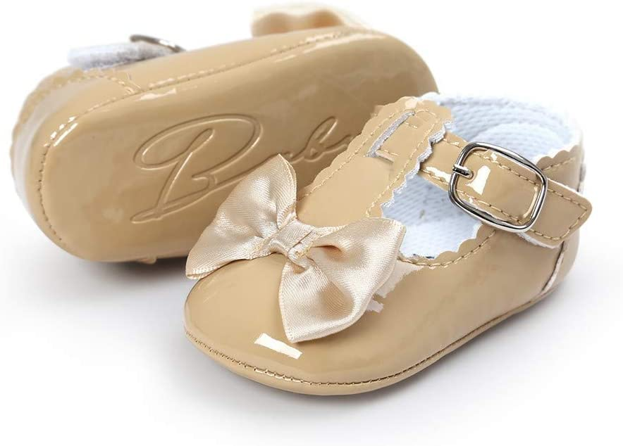 Sinwasd Sandals Baby Bowknot Princess Girls Shoes Anti-Slip Soft Sole Shoes Toddler Sneakers Casual Shoes Navy,0-6 Month