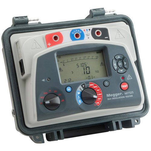 Megger MIT525-US Insulation Tester with Output, 10 Teraoh...