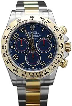 Rolex Cosmograph Daytona 40 Blue Dial Stainless Steel and Gold Men's Watch 116503