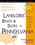 Landlords' Rights & Duties in Pennsylvania: With Forms (Self-Help Law Kit with Forms)