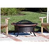 Patio Furniture-Premium® Fire Sense Copper Rail Fire Pit-Patio Fire Pit