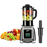 JUSCHEF Professional High Smoothies, Heating Blender with Glass Jar 9-Speed and 8-Programs Settings(35000RPMS), Resistant Pitcher, BPA Free
