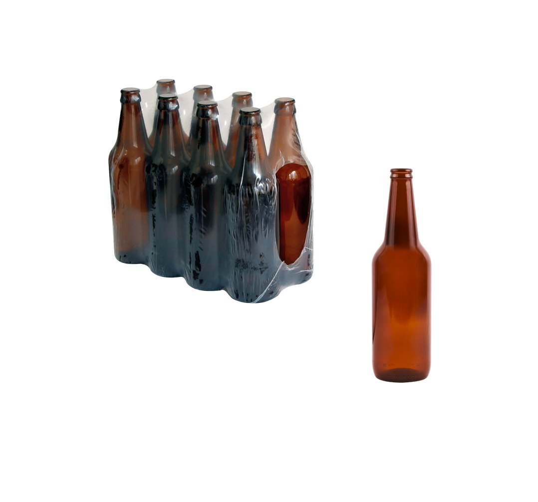 New marrone/ambra vetro tappo bottiglie casa Brew birra 500 ml 16/24p, 24 bottles Biowin