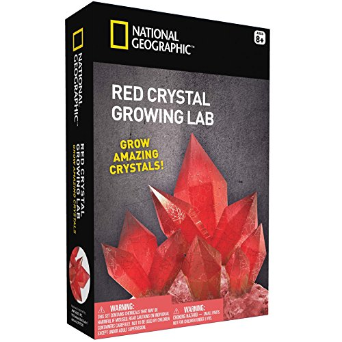 Aragonite Crystal Growing Kit – Grow Red Crystals with NATIONAL GEOGRAPHIC