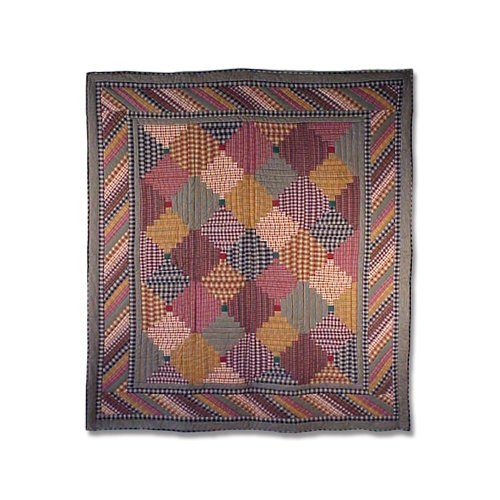 Patch Magic 50-Inch by 60-Inch Harvest Log Cabin Throw (Log Cabin Throw Quilt)
