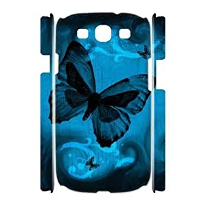 ALICASE Cover Case Butterfly 3D Diy For Samsung Galaxy S3 I9300 [Pattern-1]