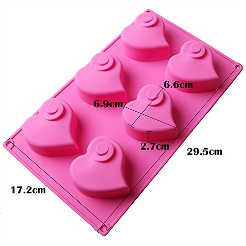 SuperStores 1pc Love Vortex Silicone Cake Mold 3D Fondant Cake Decorating Tools Sugarcraft Chocolate Biscuit Pudding Baking (Airbrush Makeup Near Me)