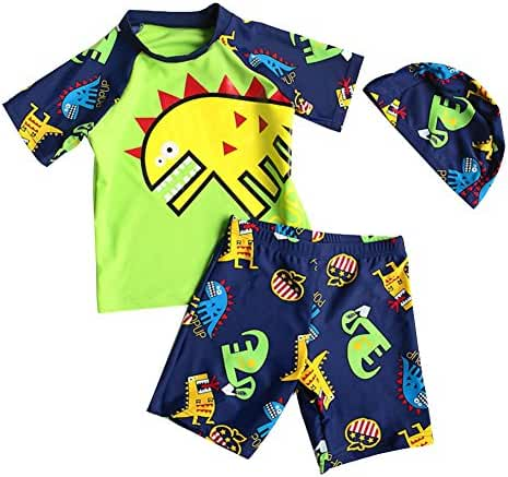 Baby Toddler Boy Two Pieces Swimsuit Set Kid Swimwear Bathing Suit UPF 50+