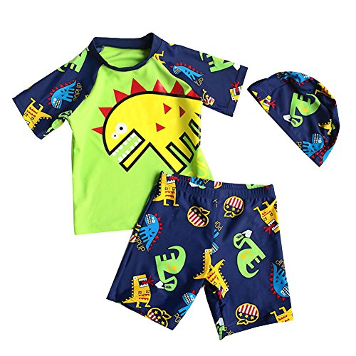 Baby Toddler Boy Two Pieces Swimsuit Set Kid Swimwear Bathing Suit UPF 50+ 2,cute monster design, S. (Suits Bathing Swimwear Boys)