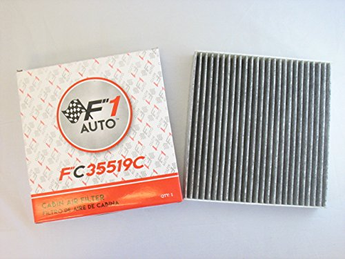 F1AUTO FC35519C FLAT PANEL CARBON CABIN AIR FILTER