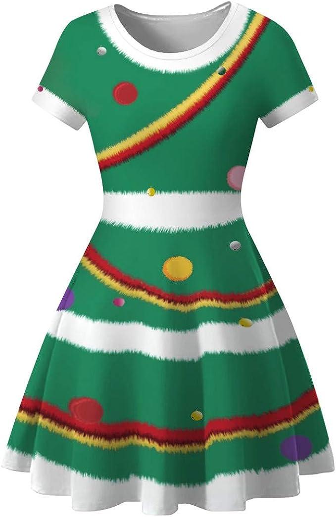 Amazon.com: Vestidos de Navidad para mujer, muñeco de nieve ...