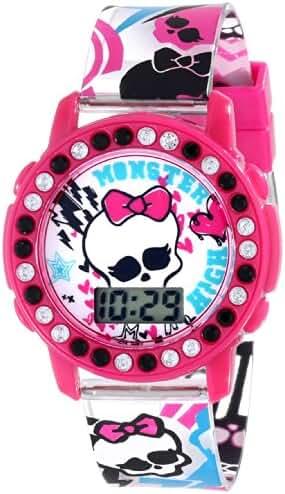 MATTEL Kids' MHKD175 Monster High Digital Display Quartz Two Tone Watch