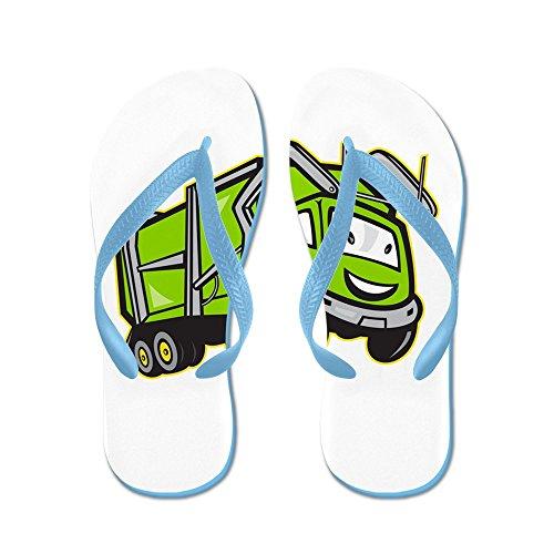 Cartone Animato Spazzatura Immondizia Camion Dei Cartoni Animati - Infradito, Sandali Infradito Divertenti, Sandali Da Spiaggia Blu Caraibico