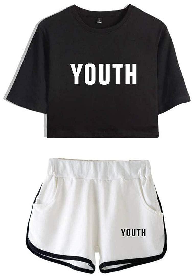 Silver Basic M/ädchen Shawn Mendes 98 T-Shirt und Shorts Set Casual Kurzarm Sommer Sets