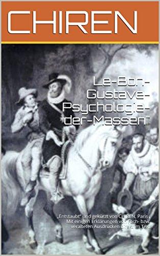 Amazon.com: Le Bon Gustave  Psychologie der Massen