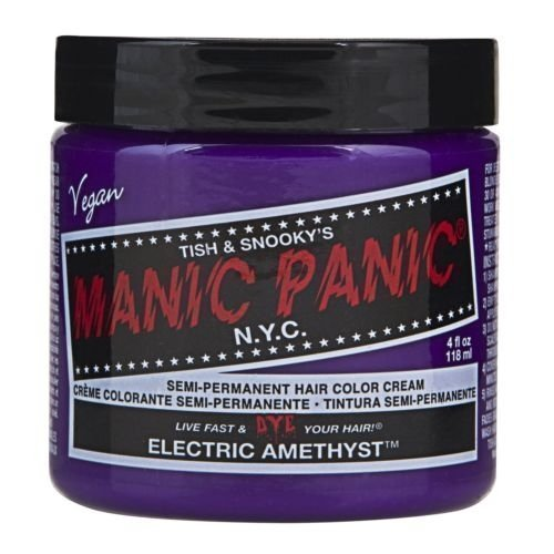 Manic Panic Classic Creme Hair Color Electric Amethyst (Manic Panic Purple Haze Mixed With Ultraviolet)