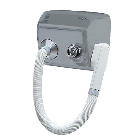 Secador eléctrico con pulsador secador de pared a pared pistola Secadora acero satinado Nofer 02100.