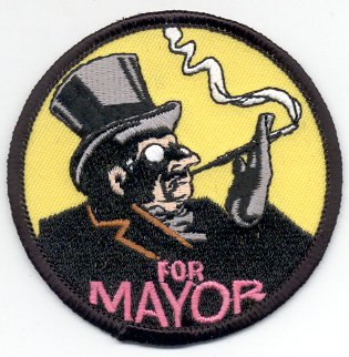 Penguin Batman (Batman - Penguin For Mayor - Iron On Embroidered Patch)