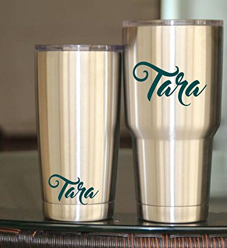 Personalized Name Vinyl Decal Sticker I Yeti Decal Tumbler Cup Decal Laptop Decal ()