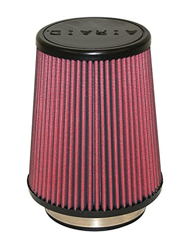 Airaid 701-458 Universal Clamp-On Air Filter: Round Tapered; 4 in (102 mm) Flange ID; 7 in (178 mm) Height; 7 in (178 mm) Base; 4.6254.71875 Top