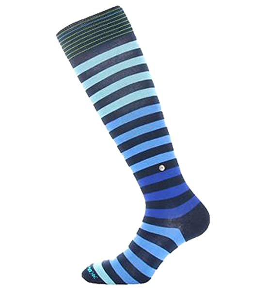 BURLINGTON calcetines hombre mod BLACKPOOL Azul/azul/Celeste 75% lana 40/46