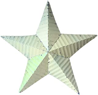 "product image for 18"" Tin Rustic Barn Star Garden Decor - Yellow"