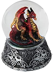GSC 28071 3.25 Inch Water Globe, Dragon Red