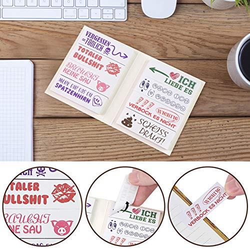 Koogel 400 Blätter Lustige Haftnotizen, Bunte Klebezettel mit 8 Designs Funny Sticky Notes Studenten Kollegen Geschenk Witze für Büro Schule Makierung Lernen