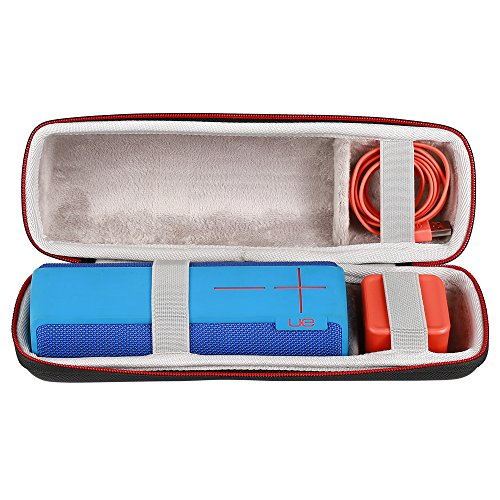 Faylapa Case Travel Carrying Storage Bag for Ultimate Ears UE BOOM 2 Portable Wireless Bluetooth Speaker. Fits USB Cable and Charger Black