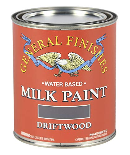 General Finishes QD Water Based Milk Paint, 1 Quart, Drift Wood, Driftwood