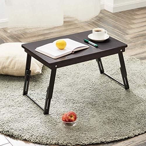 ラップトップデスクテーブル調節可能な100%竹折りたたみ式朝食サービングベッドトレイポータブルスタンディングベッドデスクラップトップデスク用ベッドソファ