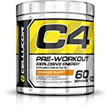 Cellucor C4 Original Pre Workout Powder, Energy Drink Supplement with Creatine, Nitric Oxide & Beta Alanine, Orange Burst, 60 Servings