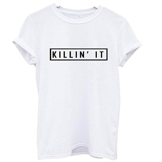 ddd4feeddb28 Trendyest Killin' it T Shirt Hype Wifey Homies des dope Swag Wasted Trill (M