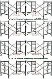 CBM Scaffold 8 Set New Snap-On Lock 5 X 5 X 7 Masonry Scaffolding Frame Sets