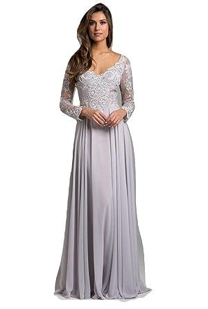 1642af53e8 Dress Earth Lara 29929 Chiffon Long Dress at Amazon Women s Clothing store