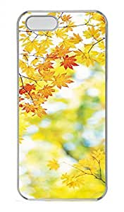 iPhone 5 5S Case Autumn Maple Leaf Funny Lovely Best Cool Customize iPhone 5S Cover Transparent by lolosakes