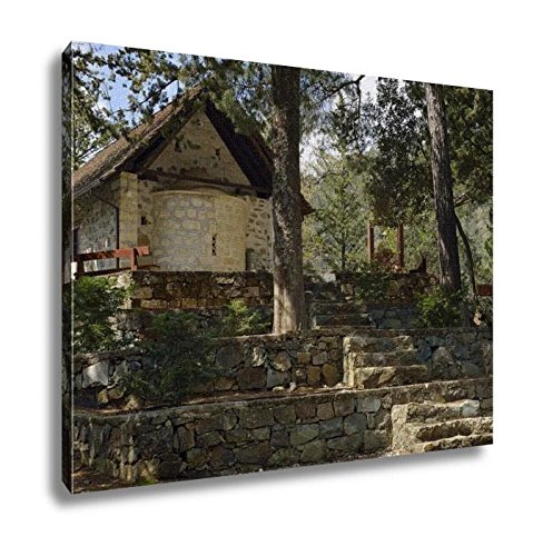 Ashley Canvas, The Chapel Of Holy Cross Stavros Tis Psokas Cypruswith Calabrian Pine Golden, Home Decoration Office, Ready to Hang, 20x25, AG6006832 by Ashley Canvas