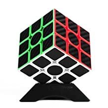 Twister.CK 3x3 Speed Cube Magic Cube Brain Teaser Puzzles with Carbon Fiber Sticker
