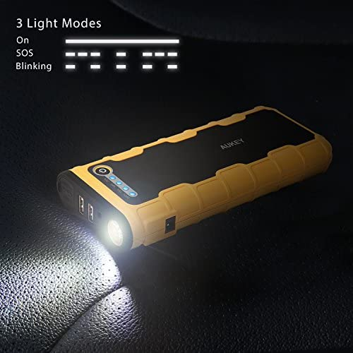 Emergency Portable Charger with Advanced Safety Protection Renewed Built-in LED Flashlight and Compass Roav Jump Starter Pro 800A Peak 12V for Gas Engines up to 6.0L or Diesel Engines up to 3.0L