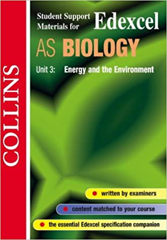 Book Energy and the Environment: Edexcel AS Biology, Unit 3 (student support materials)