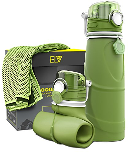 Collapsible Water Bottle + Cooling Towel, ELV 750ml