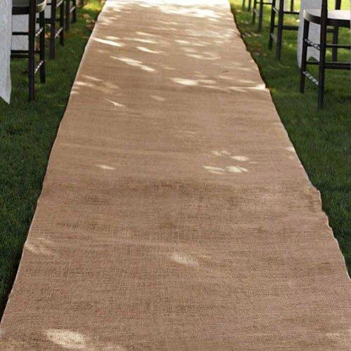Burlap Wedding Aisle Runner 36 inch x 100 feet Rustic - Natural by TBA