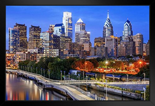 ated Skyline Photo Art Print Framed Poster 20x14 inch ()
