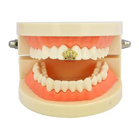 7b4cd4f58b53 Morph33 Hiphop Teeth Joyas Hip Hop Corona Solos Frenos de Oro Dientes de Halloween  Grillz Rapper