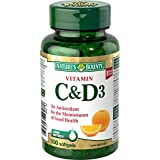 Nature's Bounty Vitamin D 1000mg & Vitamin C 500mg  100 count