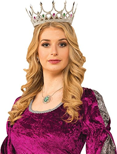 Adult Silver Royal Queen Crown product image