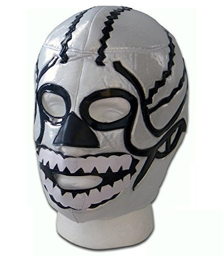 WRESTLING MASKS UK Men's Brother Death Skull Mexico Lucha Libre Wrestling Mask One Size Multicoloured -