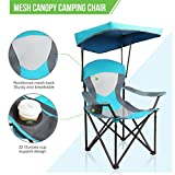 ALPHA CAMP Mesh Canopy Chair Folding Camping Chair