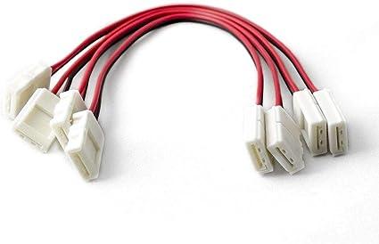 5 PACK Long Coupling//Jumper//Gap Solderless Clip-on Professional LED Strip Tape