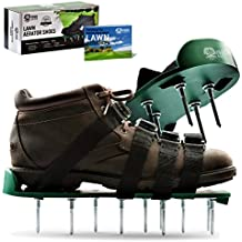 """Pride Roots Pre-Assembled Lawn Aerator Shoes - Effective Tool for Aerating Yard Soil 